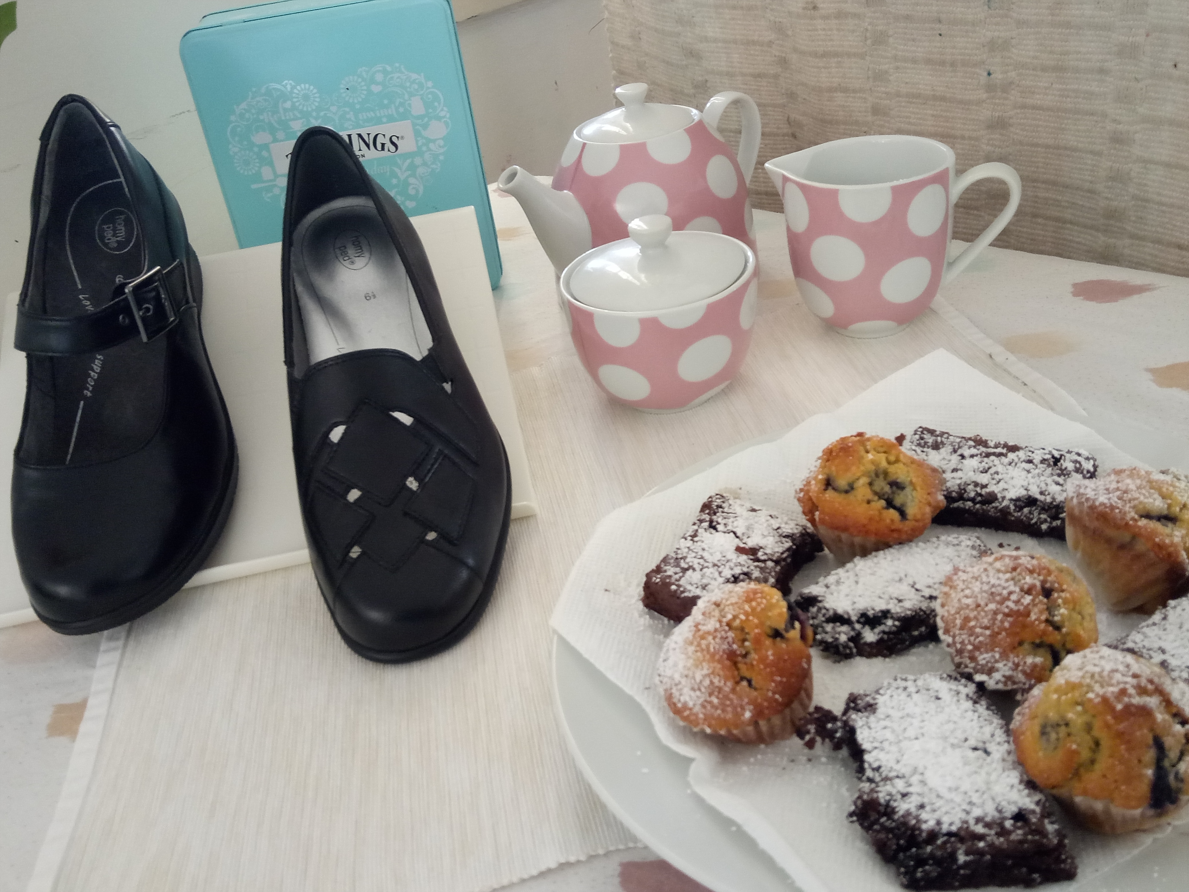Afternoon Tea and HomyPed Shoes at Loganlea
